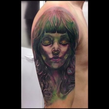 Tattoos - Realistic Medusa in color - 91520