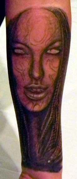 Tattoos - Angelina Jolie H.R. Giger Fusion - 52905