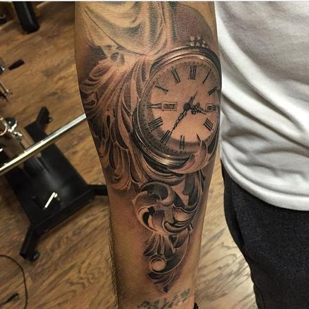 Tattoos - Pocket Watch and Filigree in Progress - 123433