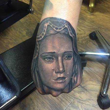 Tattoos - Virgin Mary Hand - 123437