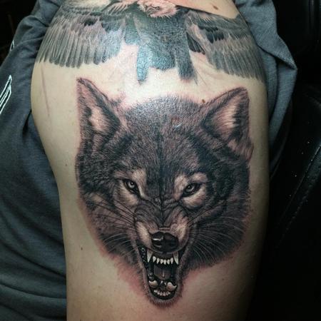Tattoos - Wolf - 123438