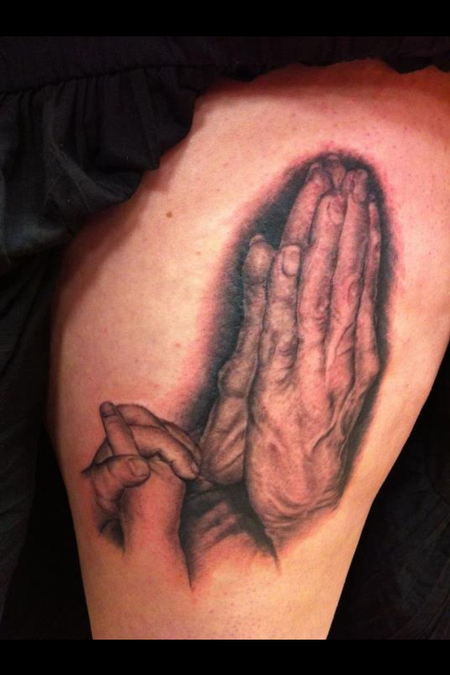 Tattoos - Praying hands Tattoo - 68813