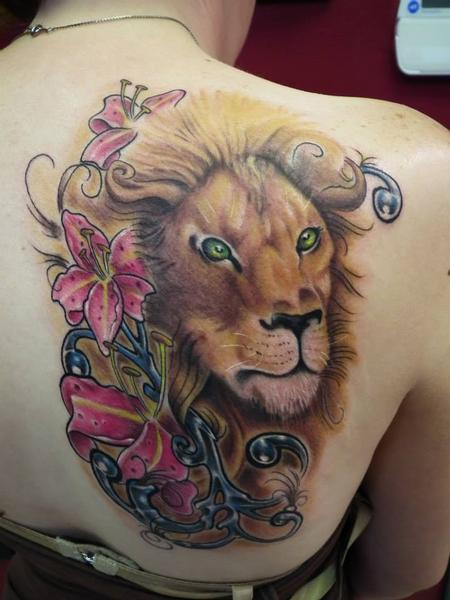 Tattoos - Lion done on the shoulder - 91918