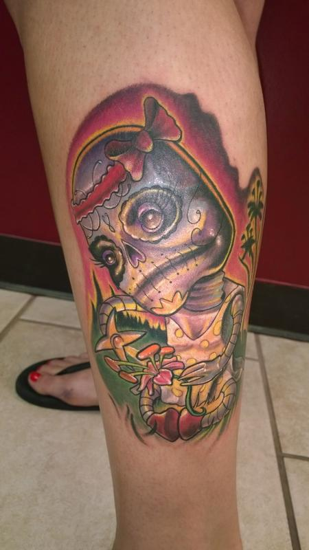 Tattoos - Day of the dead robot  - 94745