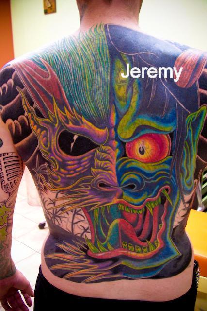 Tattoos - Japanese Mask - 61190