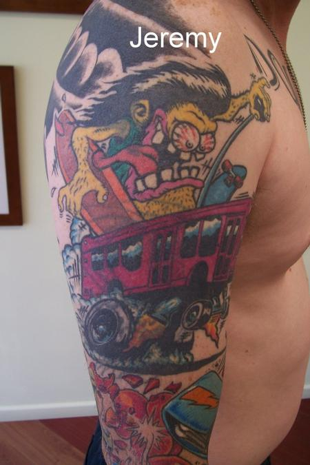 Tattoos - Pink School Bus - 61192