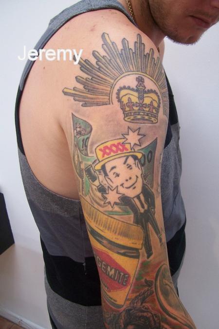 Tattoos - Aussie Arm - 61201