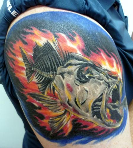 Tattoos - Flamin Fish - 61375