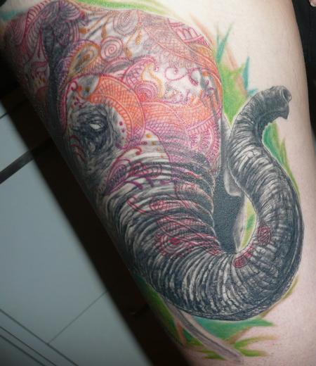 Tattoos - Henna Elephant - 61351