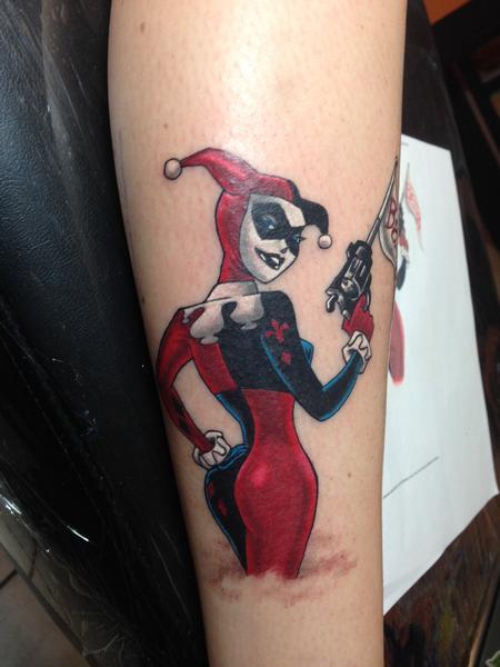 JD Dreyer - Harley Quinn Color Tattoo