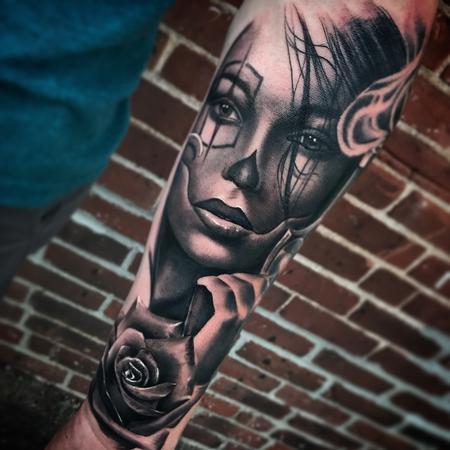 Tattoos - Chicano clown tattoo - 129357