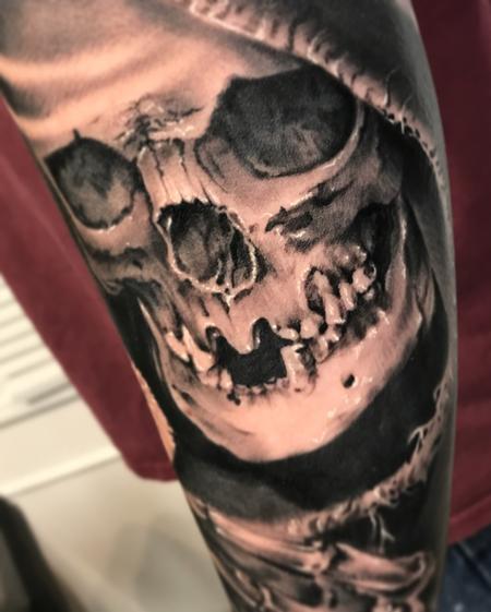 Tattoos - Hooded skull - 130530