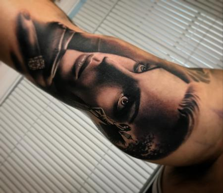 Tattoos - Black and grey realistic portrait - 130529