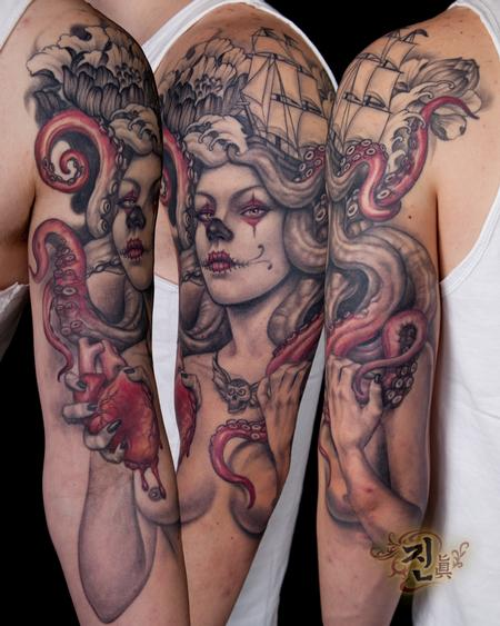 Tattoos - Octopus Lady - 94940