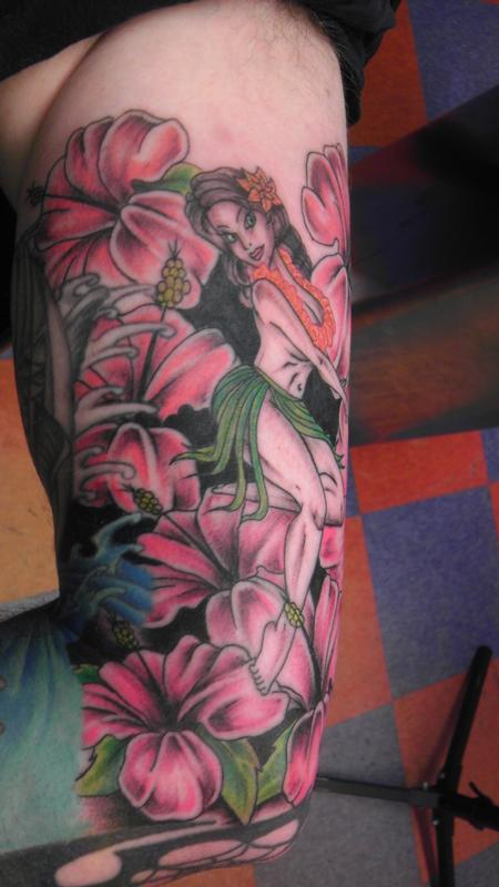 Tattoos - Hula Girl 3 - 83987