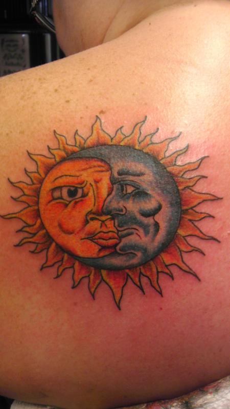 Tattoos - sun and moon - 85674