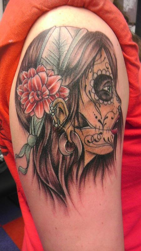 Tattoos - Day of the Dead Girl - 85806