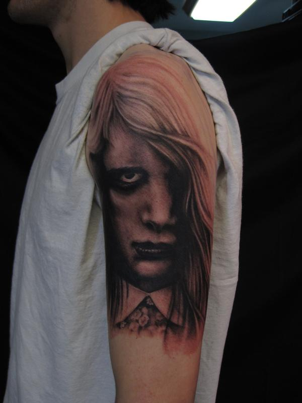 Night of the Living Dead black and grey arm tattoo by Jon ...