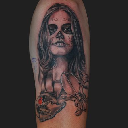Tattoos - Day of the dead ironman girl - 95113
