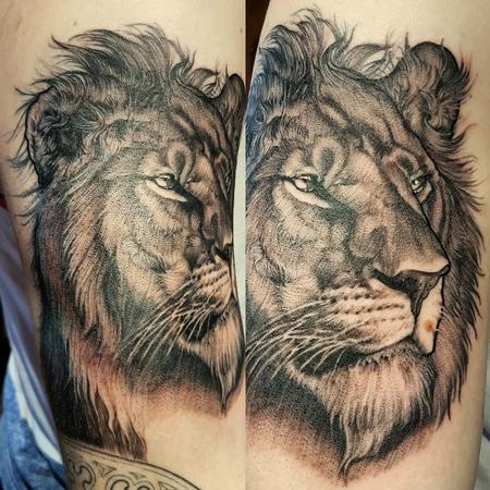 Tattoos - Fine line Feline - 126638