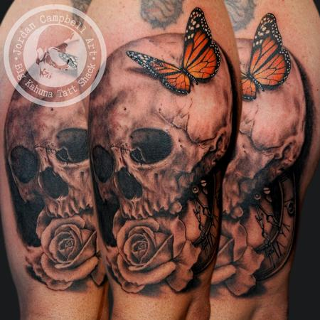 Tattoos - Monarch Skull - 101986