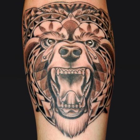 Tattoos - Tribal Bear - 98987