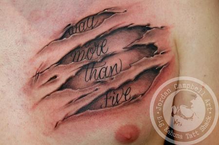 Tattoos - Ripped skin - 98993