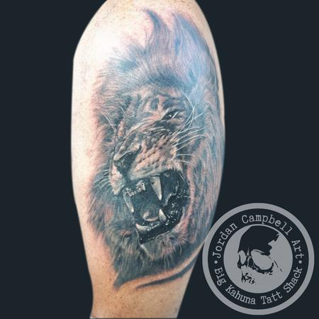 Tattoos - lion coverup - 117894