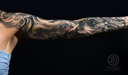Jose Perez Jr - Cat Skull & Nature Sleeve