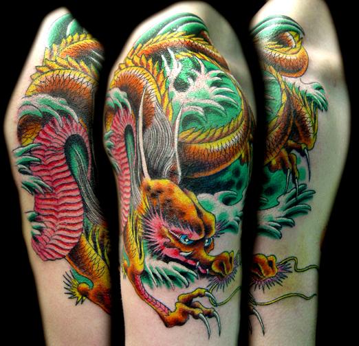 Tattoos - oriental dragon. - 18546