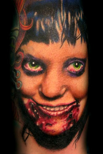 Tattoos - Girl face cover up - 18671