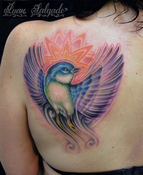 Tattoos - flying bird tattoo - 53923