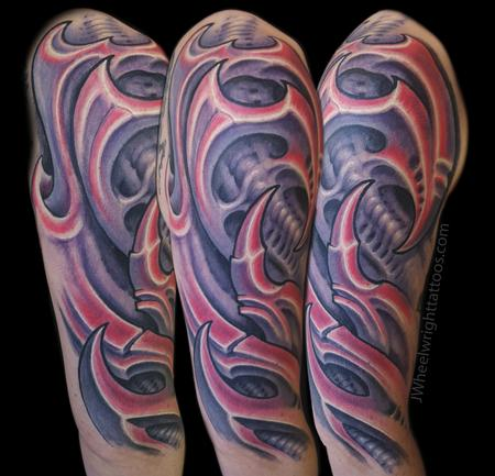 Tattoos - Pink Biomechanical - 132465