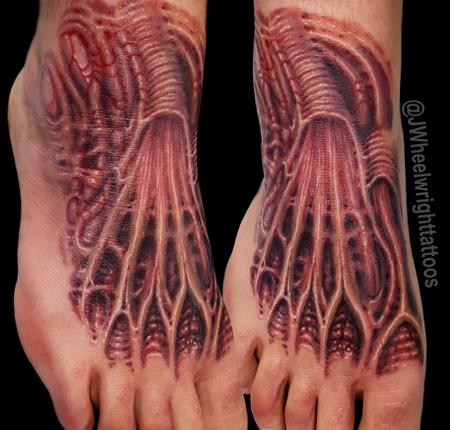 Tattoos - Bio Organic anatomical foot tattoo - 125395