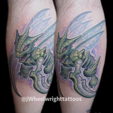 Tattoos - Scyther tattoo on calf - 125040