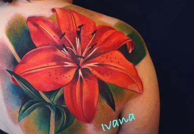 Tattoos - Lily Flower - 72872