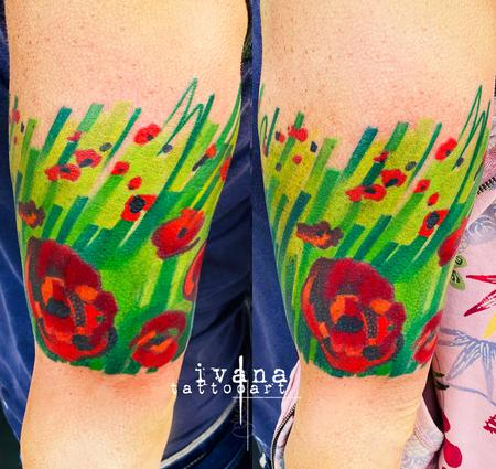 Ivana Tattoo Art - Poppies