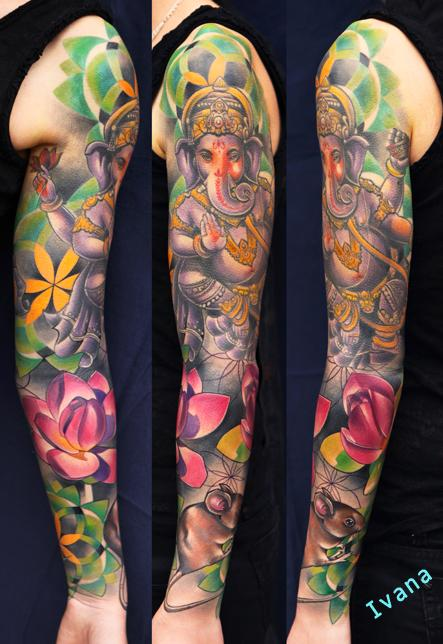 Tattoos - Ganesh & Lotuses & Mouse Dorotka - 72789
