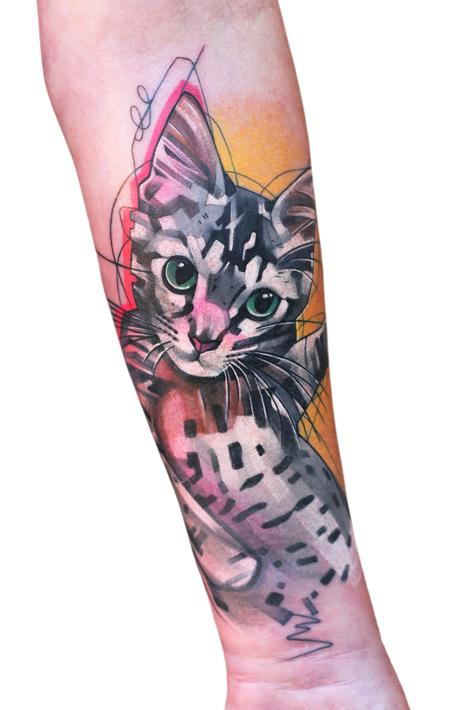 Ivana Tattoo Art - Kitty Cat Tattoo