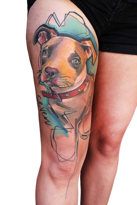 Tattoos - Dog pet protrait - 138810