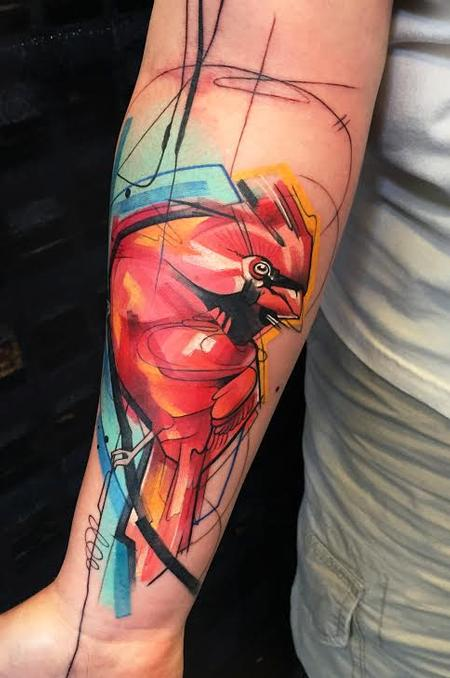 Ivana Tattoo Art - Cardinal Forearm Tattoo