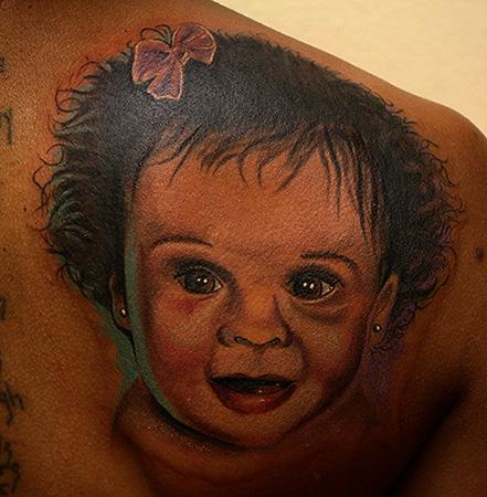 Tattoos - baby portrait - 71089