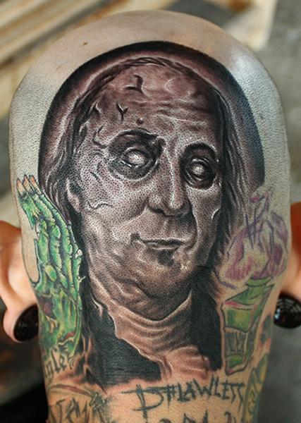 Tattoos - Zombie Ben Franklin tattoo - 71091