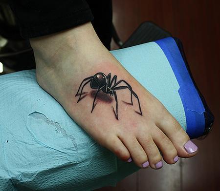 Tattoos - black widow spider tattoo - 71098