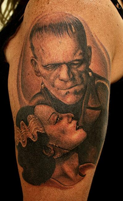 Tattoos - Frankenstein and the Bride of Frankenstein - 71110