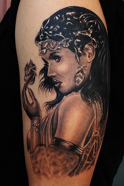 Daniel Chashoudian - Greek Goddess tattoo