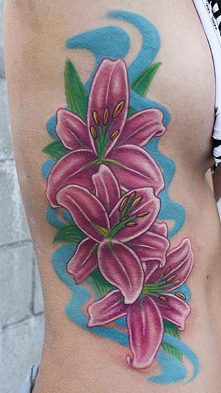 Tattoos - Lily flower tattoo - 73664