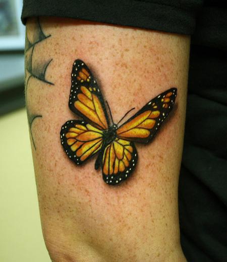 Daniel Chashoudian - Monarch butterfly tattoo