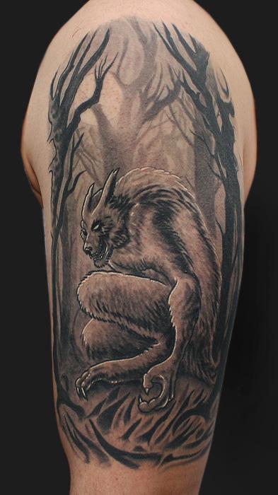 Daniel Chashoudian - Werewolf tattoo