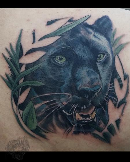 Tattoos - Panther behind the jungle - 99646